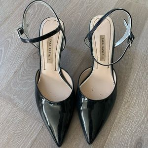 Zara Basic Kitten Heel, Black, 39